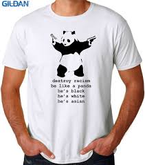 Meme Tshirts - summer style t shirt short sleeve men anti racism panda funny