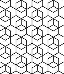 hexagon trellis black on white wallpaper little fish spoonflower