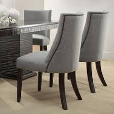 Upholstered Dining Chair Set Bentley Microvelvet Upholstered Dining Chairs Set Of 2 Dining