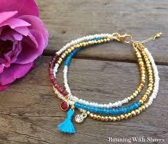 make friendship bracelet beads images Make a multi strand friendship bracelet running with sisters jpg