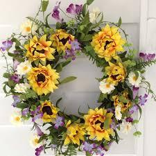 sunflower wreath summer sunflower wreath 22 flora decor