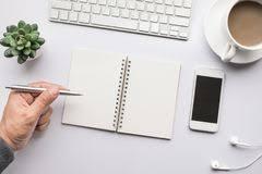 affaires de bureau fournitures de bureau conception plate illustration de vecteur