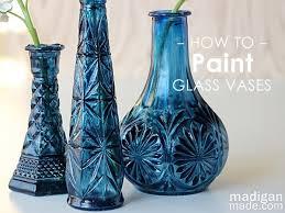 Glass Vase Painting Painted Glass Vase U2013 Craftbnb