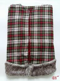 plaid tree skirt country tree skirt 36 inch tree skirt brown fur tree skirt
