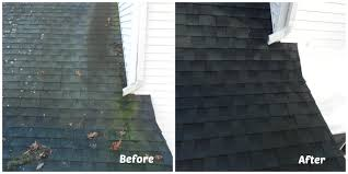 roof cleaning before and after u2013 roof cleaning perfection