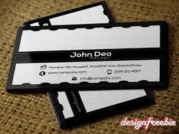 super elegant black u0026 white free business card templates psd front