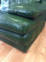 vintage roche bobois green leather sofa sold past perfect