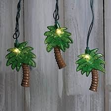 string lights tropical palm trees outdoor green