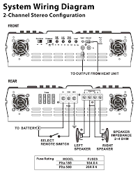 subwoofer wiring diagrams adorable 4 channel amp diagram