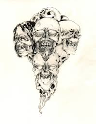 skull with mohawk tattoo designs images clip art library