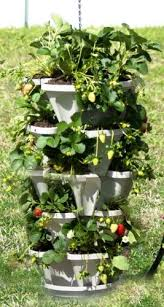 flower tower freestanding vertical planter strawberry planters