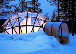 these heated glass igloos in the arctic are amazing