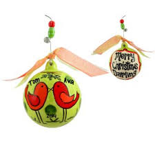 merry ceramic ornament personalized