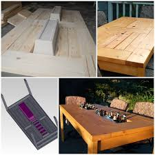 Build Outdoor Garden Table by Diy Patio Table With Built In Beer Wine Coolers Home Design