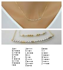 Personalized Name Necklace Sterling Silver Custom Morse Code Necklace Personalized Name Necklace Gold Fill