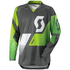 cheap motocross gear online scott 350 race jersey grey green offroad jerseys cheapest online