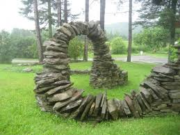 lovable stone wall garden ideas stacked stone garden wall design