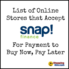 stores that accept snap finance to buy now pay later
