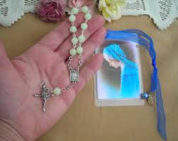 glow in the rosary rosary bookmark etsy