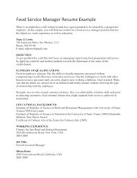 sample resume for manager position sample resume assistant manager food service frizzigame food service resume msbiodiesel us