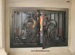 home decor awesome wrought iron fireplace doors design decor