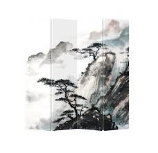 asian room dividers oriental room divider paravent 4 panel sanshui mountain water