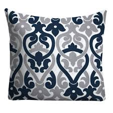 blue and gray sofa pillows navy grey outdoor pillows outdoor throw pillows patio pillows