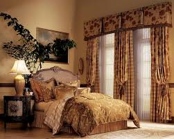 victorian bedroom design with fancy beige interior decoration