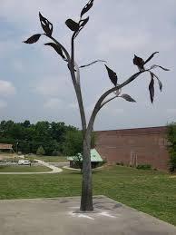 steel and copper tree sculpture artist sculptor metalsmith