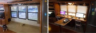 Motorhome Custom Interiors Custom Rv Workstation Deglossed