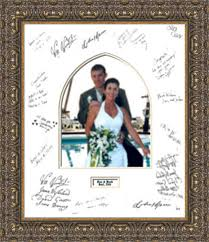 wedding autograph frame signature mats arthaus custom picture framing