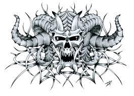 satan s skull by joshdixart on deviantart