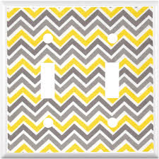 Outlet Home Decor by Chevron Zig Zag Design Yellow And Gray Light Switch Cover Plate Or