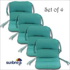 Patio Chair Cushions Set Of 4 Set Of 4 Outdoor Chair Cushions 20 X 36 X 3 H 19 In