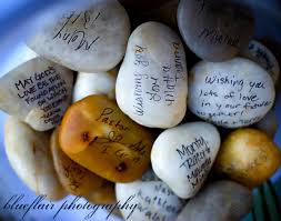 wishing stones wedding wedding rocks flat sign writing and guestbook
