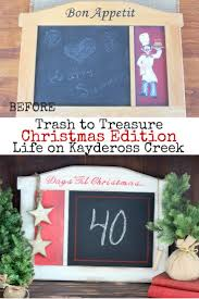 countdown to christmas project trash to treasure upcycle
