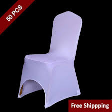 Cheap Chair Cover White Polyester Spandex Wedding Chair Covers For Ceremony Event