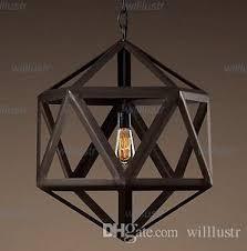 Vintage Pendant Light Discount Modern Design Vintage Pendant Lamp Steel Polyhedron