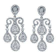 Chandelier Earrings Earrings White Gold Diamond Chandelier Earrings U2013 Pickasound Co