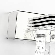 bathroom vanity light with crystal cube led wall light cabinet