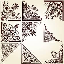 brown border corner ornament free vector 15 358 free