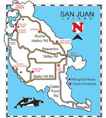 san juan map map of san juan island