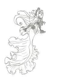 winx club mermaid flora coloring pagesfree coloring pages for kids
