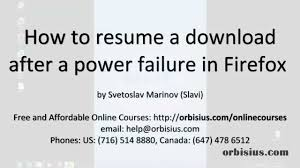 wget resume download how to resume a firefox download after a power failure outage