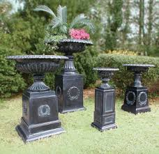 Urn Planters With Pedestal Robinson Iron U0027s Urns And Planters