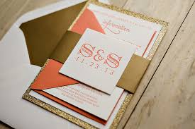 coral wedding invitations coral and gold wedding invitations plumegiant