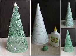 decoration diy christmasecorations trees glueecoration