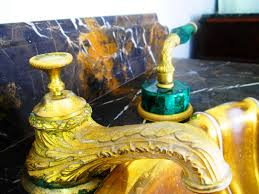 bathroom design gold plated bronze and onyx sherle wagner faucets