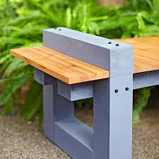 Easy Outdoor Wood Bench Plans by Outdoor Bench Plans Treenovation