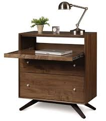 Laptop Desk Walnut 2 Drawer Laptop Desk